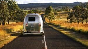 silver van in landscape